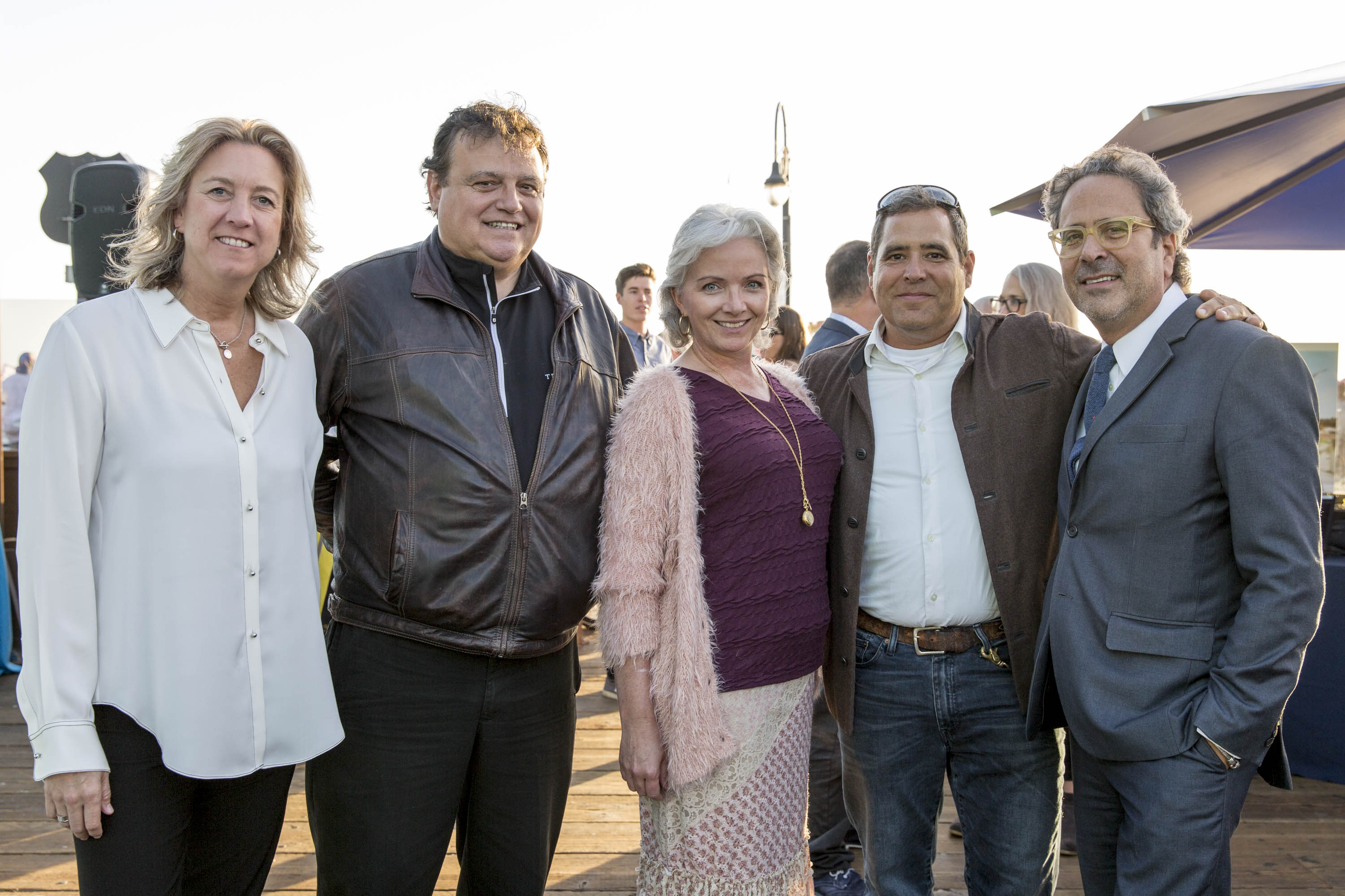Honorees Leslie Iwerks, Chef Bernard Ibarra, and Beth Ryan with TBF Director Tom Ford, Assemblymember Richard Bloom