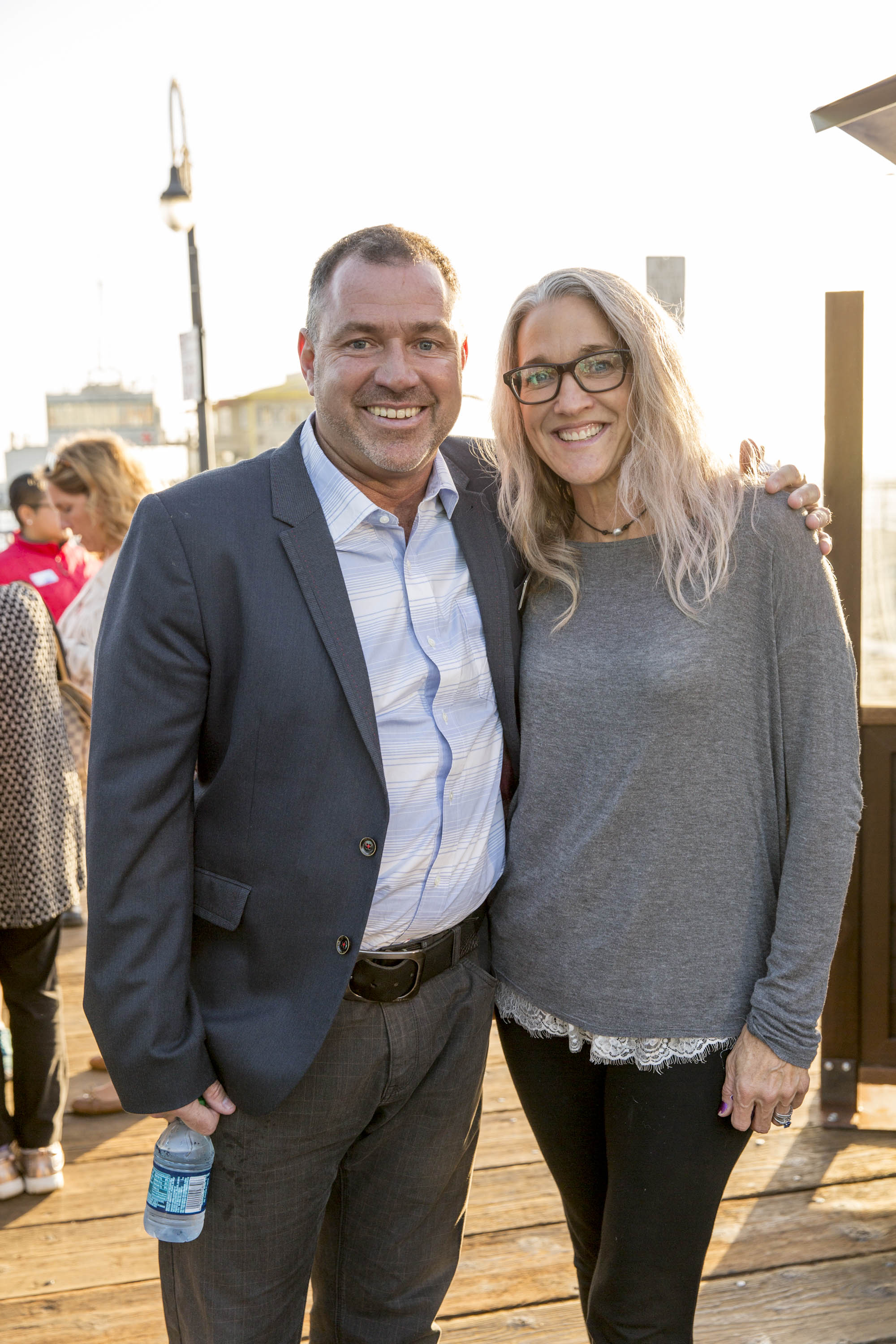 TBF Board Members Jeff Klocke of Pacific Park and Laura Doss-Hertz of SKYSOURCE