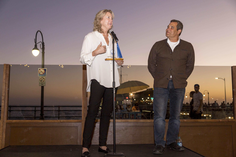 Honoree Leslie Iwerks, TBF Director Tom Ford