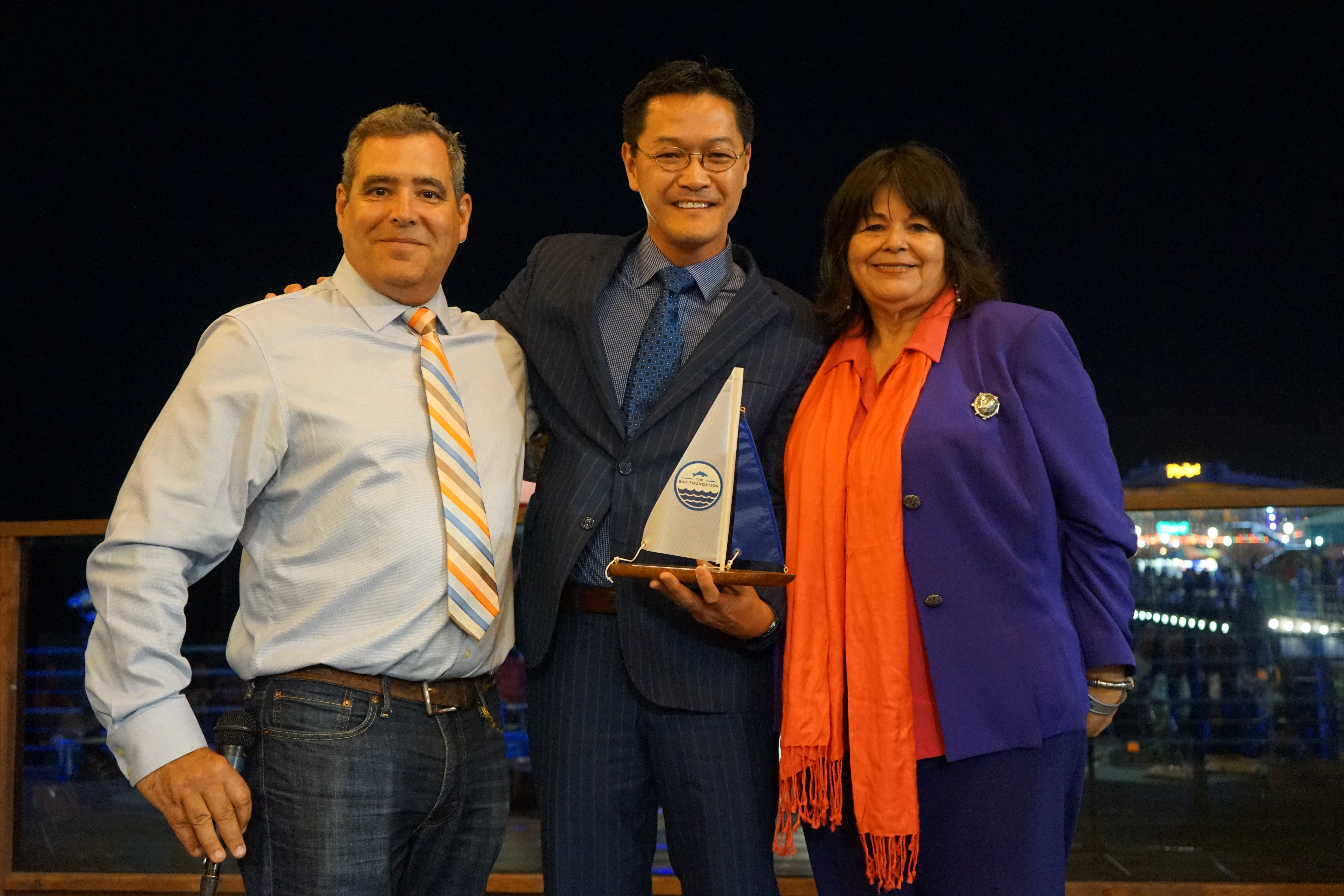 TBF Director Tom Ford, Honoree LMU Provost Dr. Tom Poon, and Irma Muñoz