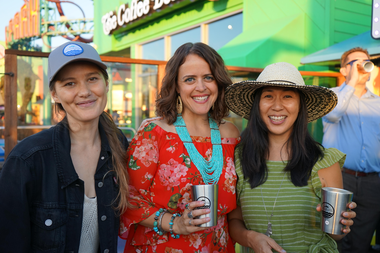 TBF's Georgia Tunioli and Grace Lee, with Jessica Aldridge (center)