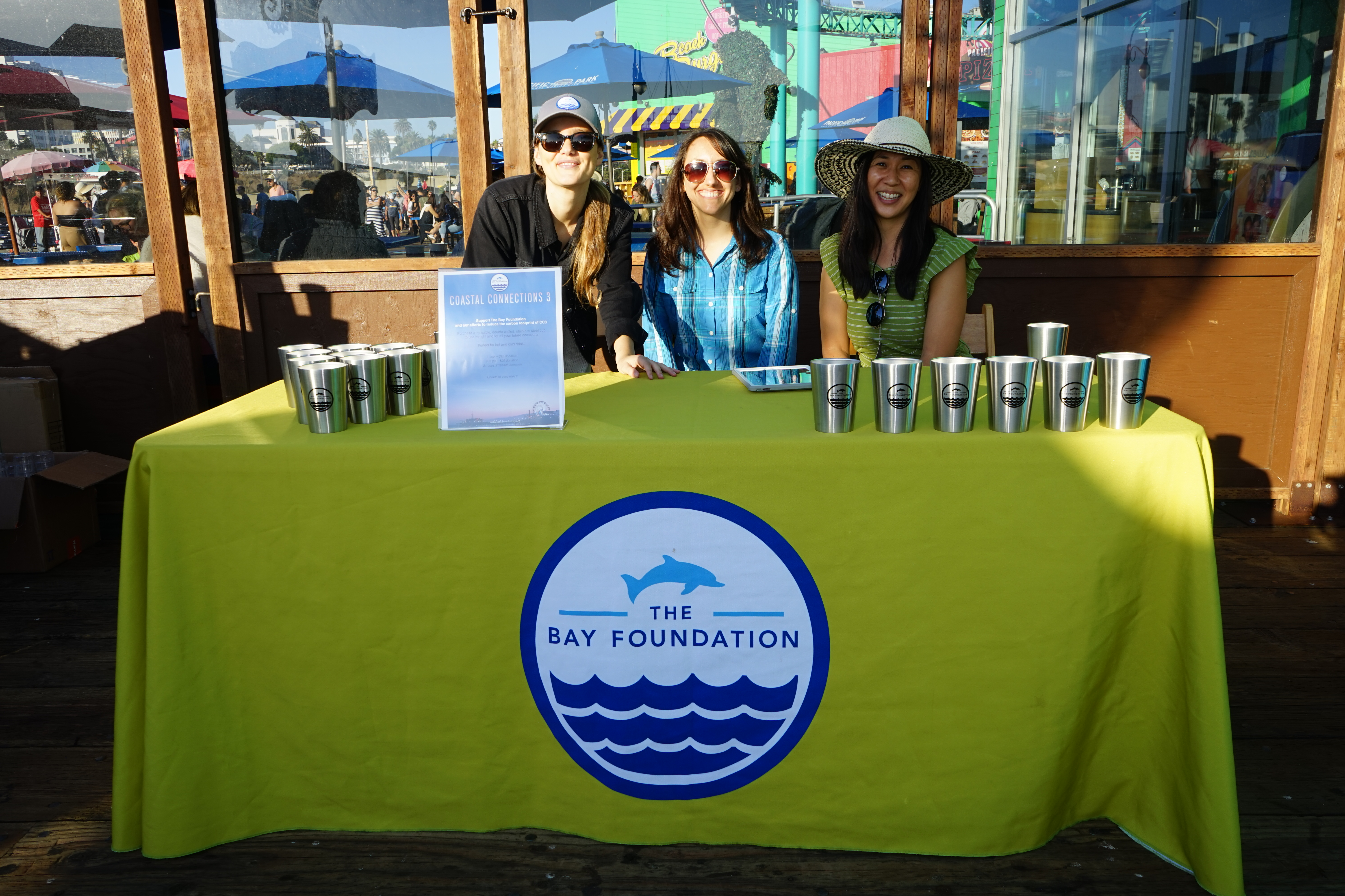Georgia Tunioli, Vicki Gambale and Grace Lee of The Bay Foundation's Clean Bay Certified Program